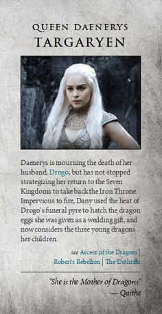 Daenerys Targaryen - game-of-thrones Photol love the role she plays and her baby dragons too! M.W