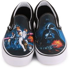 09c3e2a0465fdf Vans x Star Wars Classic Slip-On Womens Trainers ( 90) ❤ liked on