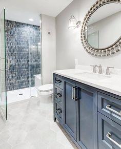 2021 Tile Trend: Coastal-Inspired Blues + Greens - The Tile Shop Blog Shower Backsplash, Dream Shower, Nordic Lights, Wall Exterior, The Tile Shop, Shower Surround, Wall And Floor Tiles, Fireplace Design, Coastal