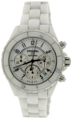 Chanel J12 H1077 Chronograph White Ceramic Automatic 41mm Watch