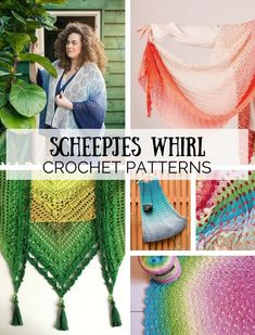 Scheepjes Whirl. Check out 20 (!) beautiful crochet patterns, all using Scheepjes Whirl | Happy in Red