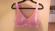 COMFORT CHOICE Bra Size 40C Pink Lace With UNDERWIRE #ComfortChoice #Demis