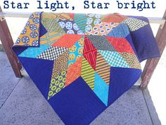 Star Light, Star Bright Quilt  So going to make this, but in different fabrics...maybe a Christmas quilt?