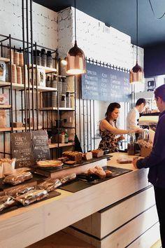 Bear Market Coffee Shop, designed by VAV architects @ Blackrock, Dublin #wood #steel #rebar