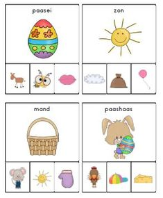 knijpkaartjes lente fonemisch bewustzijn Busy Boxes, Easter, Study, Teaching, Cartoon, Lettering, Writing, Education, School