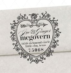 STORYBOOK Return Address Stamp   2 x 2 inches by studioGdesigns, $28.95