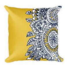 """sketchbook doodle 18""""X18"""" throw pillow"""