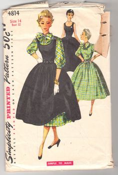 Vintage Sewing Pattern Ladies 1950's Dress and Blouse by Mrsdepew, $17.00