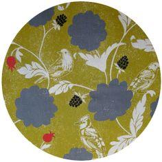 Echino Decoro, OILCLOTH, Dahlia Gold.