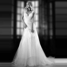 Find More Wedding Dresses Information about vestido de noiva 2016 A line Elegant Sweetheart Sleeveless Backless…