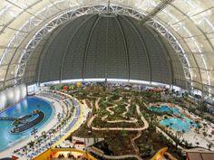 World's largest indoor rainforest in a German airship hangar
