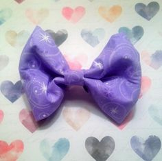 Purple Glitter Fabric Bow, Purple Hair Bow, Girls Hair Bow, Hair Accessory, Fabric Hair Clip, Girl Hair Clip, Teen Hair Bow, Handmade Bow by MissZoesPlace on Etsy