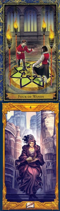 Four of Wands: community and tension (reverse). Wizardtarot Tarot deck and Epic Tarot deck: free trusted tarot, my tarot card reading and free tarot card reading online accurate. Best 2018 fortune telling diy and tarot decks cards.