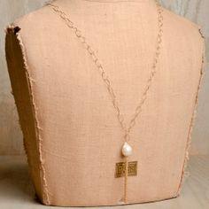 Hila Designs Bearded Tassle Necklace- Cream  {Bella Vita | Collierville, TN}