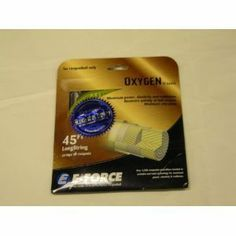 E-Force Oxygen Amber String Set by E-Force. $14.99. E-Force Oxygen is a String Set with maximum power, elasticity, resilience, enhanced soft feel, and minimal vibration. Length: 45 feet Size: 18 G Color: Amber 00835 and Yellow 00834
