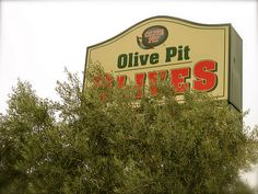 Corning, CA...olive pit. For the olive lover!