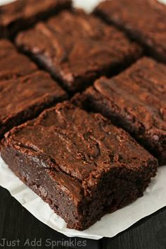 Nutella brownies are the thickest, fudgiest brownies ever. You gotta try this recipe!