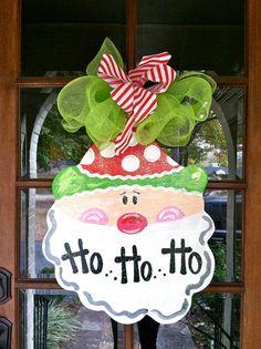 HoHoHo Christmas Door Hanger  Bronwyn Hanahan by BronwynHanahanArt, $45.00