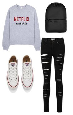 """""""Untitled #88"""" by krismonet ❤ liked on Polyvore featuring Converse and Rains"""