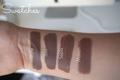 BROWN TAUPE GREY LIPS - Swatches dupes Mac Stone Coloured Raine Soul Anastasia Beverly Hill Sepia Nyx matte Maison