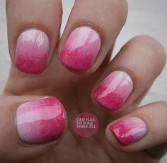 Hot Pink Gradient | 20 Pretty in Pink Nail Designs | Divine Caroline