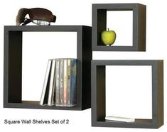 Cube Shelf Set - contemporary - wall shelves - by Welland Industries LLC Contemporary Shelving, Modern Shelving, Contemporary Home Decor, Modular Shelving, Wall Shelves Design, Buy Home Furniture, Wall Shelf Decor, Regal Design, Cube Shelves