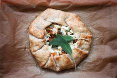 Butternut Squash, Brussels Sprouts and Goat Cheese Galette