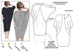 платье кокон выкройка: 13 тыс изображений найдено в Яндекс.Картинках
