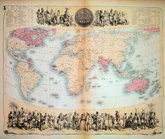 19th century map of the British Empire