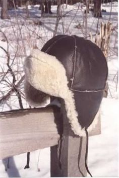 Leather Shearling Aviator Hat Trooper Hat 2e787cdb20f