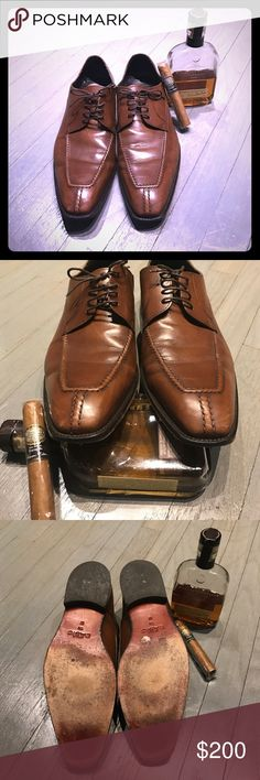 A. Testoni brown leather lace up oxfords A. Testoni brown leather lace up oxfords. Worn three times a. testoni Shoes Oxfords & Derbys