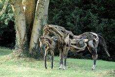 Funky Junk Interiors: Art in driftwood