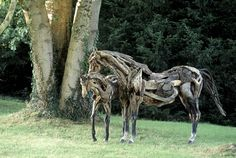 Funky Junk Interiors: Art in driftwood                                                                                                                                                      More