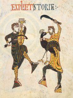 "fol-86r, Commentary on the Apocalypse (fol-5v-217r), in ""Beatus de Liebana; 'Silos Apocalypse'"", London British Library - Add. MS 11695, Northern Spain, c.1100"