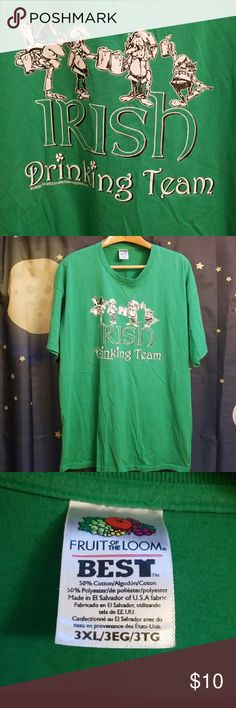 Irish Drinking Team Party's Day Tee Good pre-owned condition. Worn twice.  Thanks for looking 😉 Fruit of the Loom Shirts Tees - Short Sleeve
