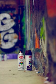 Sprays in the wall Jet Set Radio, Isle Of The Lost, Spider Verse, Street Art Graffiti, Aesthetic Pictures, Urban Art, In The Heights, Typography, Misfits