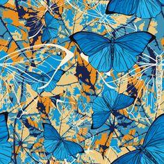 Preview small Textile Patterns, Textile Design, Print Patterns, Textiles, Exotic Art, Butterfly Pattern, Pattern Art, Pet Birds, Vector Art