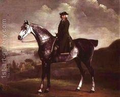 Joseph Smyth Esquire, Lieutenant of Whittlebury Forest, Northamptonshire, on a Dapple Grey Horse, c.1762-64 by George Stubbs