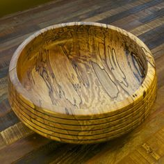 Spalted maple wood bowl at Makers Market. $89 Made in the USA.