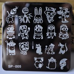 New Manicure Template Nail Stamping Plates Cartoon Characters Designs Image Disc Transfer Print Template DIY nail tools SP 005-in Nail Art Templates from Health & Beauty on Aliexpress.com | Alibaba Group