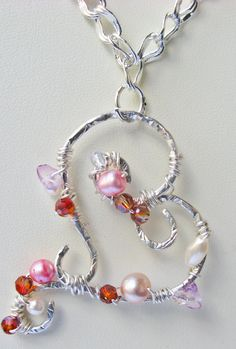Whimsy & beads!    Silver Heart Pendant Necklace by Vynyard on Etsy, $45.00