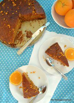 Πορτοκαλόπιτα Vegan Recipes, Vegan Food, Tiramisu, French Toast, Cheesecake, Lemon, Veggies, Pie, Orange