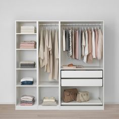 Walk In Closet Hacks Ikea Pax Wardrobe Ideas Ikea Pax Wardrobe, Ikea Closet, Diy Wardrobe, Bedroom Wardrobe, Wardrobe Design, Wardrobe Ideas, White Wardrobe, Attic Closet, Small Wardrobe