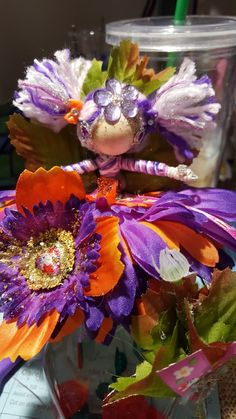 Purple & Orange doll