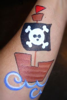 Pirate Ship- Smiley Faces by Jo