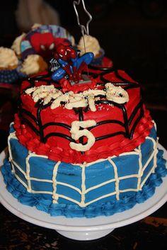 5 ára Spiderman afmæli með meiru - Gott í matinn