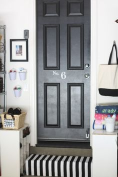 great idea for garage - store the things you need when you leave the house right be the door. Perhaps a place to put the kids cleats so they don't come into the house?