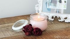 DIY aroma therapy - make your own candles! Definitely something I am going to do for people this holiday season!