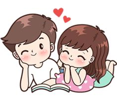 Boobib lovely couple 2 (Indo) - Stiker LINE Cute Chibi Couple, Love Cartoon Couple, Cute Couple Comics, Anime Love Couple, Cute Love Stories, Cute Love Gif, Cute Love Pictures, Cute Cartoon Pictures, Cute Cartoon Drawings