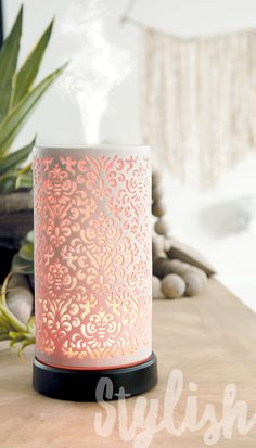 Love this diffuser from Scentsy! Has multiple light settings as well as different mist settings. The best part...a limited lifetime warranty!